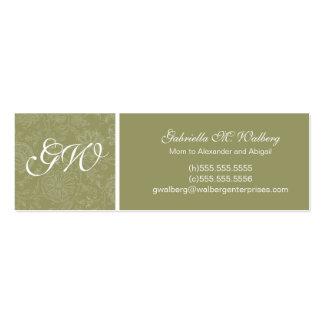 Elegant Flower Mommy Cards Business Card