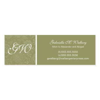 Elegant Flower Mommy Cards Double-Sided Mini Business Cards (Pack Of 20)