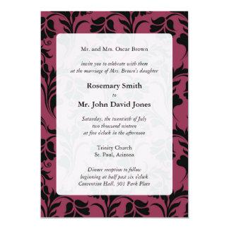 Elegant Flower Pattern Wedding Invitations