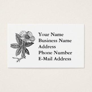 Elegant Flower Pencil Sketch Business Card