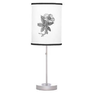 lamp pencil drawing. elegant flower pencil sketch table lamp drawing