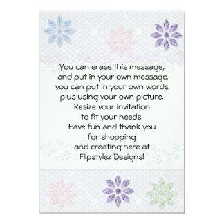 "Elegant flower petals on lace party invite 5"" x 7"" invitation card"