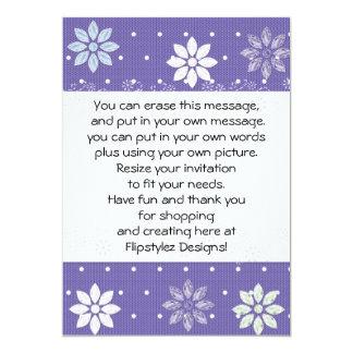 "Elegant flower petals on party invite 5"" x 7"" invitation card"