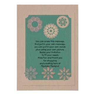 "Elegant flower petals party invite 5"" x 7"" invitation card"