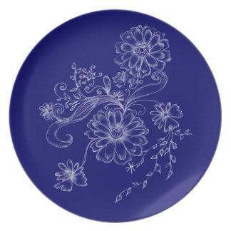 Elegant flower plate