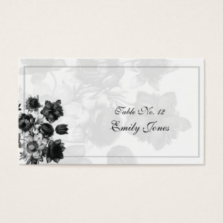 Elegant Flower Wedding Table Placement Cards