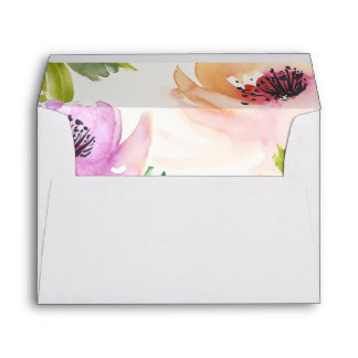 Elegant Flowers Envelope Liner with Return Address