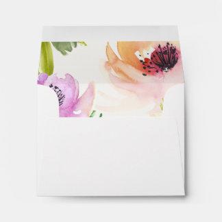 Elegant Flowers Notecard Envelope