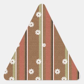 Elegant Flowers Triangle Sticker