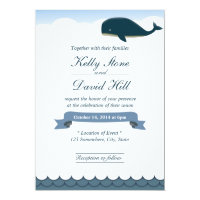 Elegant Flying Whale Wedding Invitations