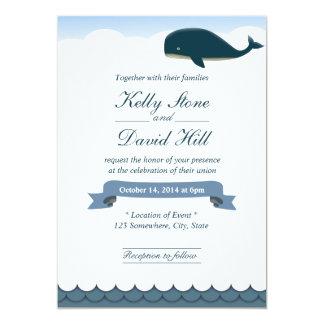 Elegant Flying Whale Wedding Invitations