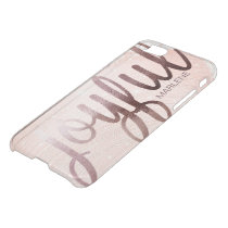 Elegant Foil Rose Gold Joyful design iPhone 8/7 Case