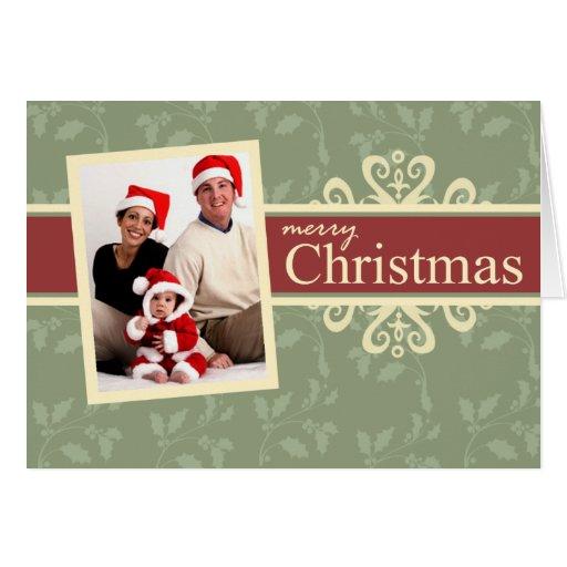 elegant folded photo christmas card