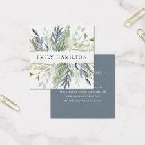 Elegant Foliage   Square Business Card