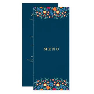 Elegant Folk Art Design Custom Menu Cards