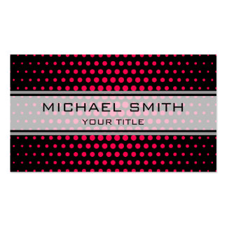 Elegant Folly Polka Dot Pattern Double-Sided Standard Business Cards (Pack Of 100)