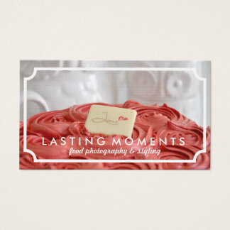 Elegant Food Photography Business Cards