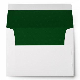 Elegant Forest Green Lined Envelope