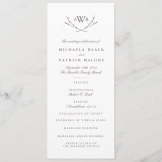 Elegant Forest Wedding Program
