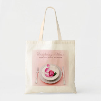 elegant fork knife plate Catering personal chef Tote Bag