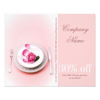 elegant fork knife plate wedding Catering Business Flyer