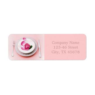 elegant fork knife plate wedding Catering Business Label