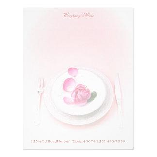 elegant fork knife plate wedding Catering Business Letterhead