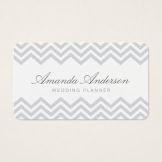 Elegant Formal Chevron Border Wedding Business Car Business Card