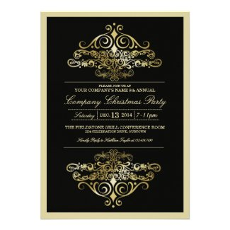 Elegant Formal Company Christmas Party Cards