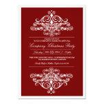 "Elegant Formal Company Christmas Party 5"" X 7"" Invitation Card"
