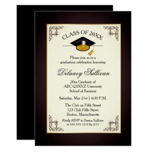 Formal invitations announcements zazzle elegant formal gold college graduation party card stopboris Gallery