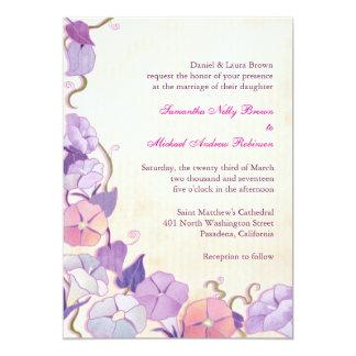 "Elegant Formal Wedding Invites 5"" X 7"" Invitation Card"