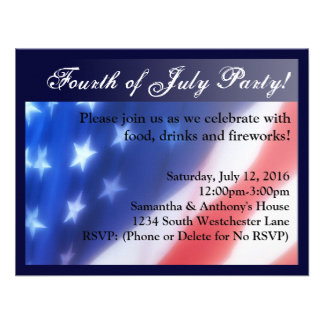 Elegant Fourth of July Celebration Invitation
