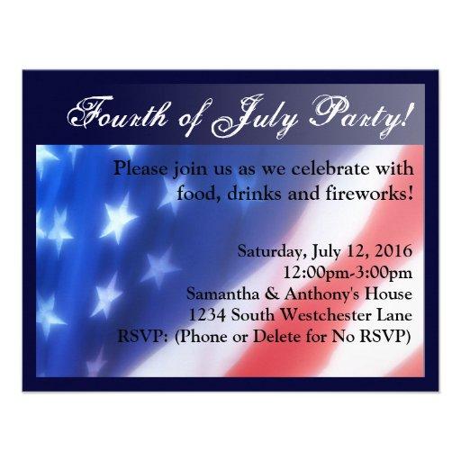 Elegant Fourth of July Celebration Invitation