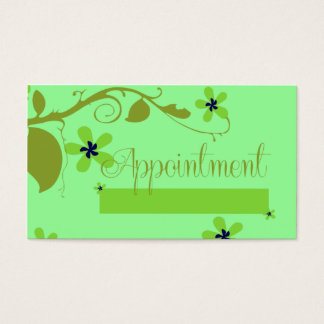 Elegant Fower Appoint Business Cards