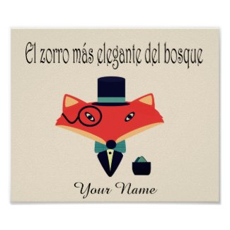 Elegant Fox Spanish Language Poster
