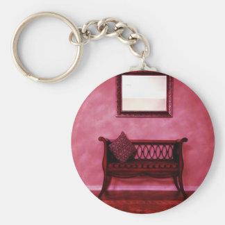 Elegant Foyer Settee Seat Mirror Interior Design Basic Round Button Keychain