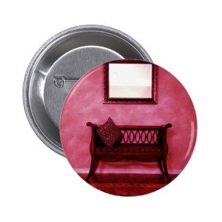 Elegant Foyer Settee Seat Mirror Interior Design Pinback Button