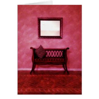 Elegant Foyer Settee Seat Mirror Interior Design Card