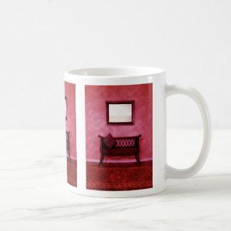 Elegant Foyer Settee Seat Mirror Interior Design Coffee Mug