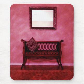 Elegant Foyer Settee Seat Mirror Interior Design Mouse Pad
