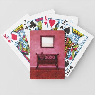 Elegant Foyer Settee Seat Mirror Interior Design Card Decks