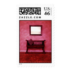 Elegant Foyer Settee Seat Mirror Interior Design Stamps