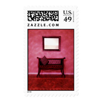 Elegant Foyer Settee Seat Mirror Interior Design Stamps