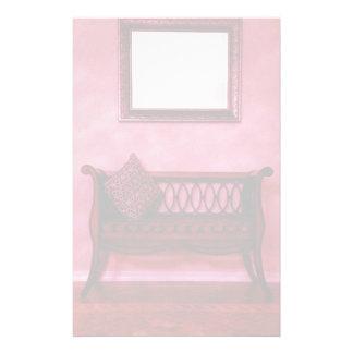 Elegant Foyer Settee Seat Mirror Interior Design Stationery