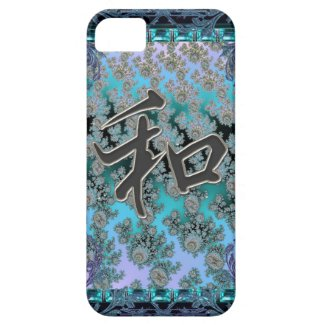 Elegant Fractal Chinese Peace Symbol iPhone Case iPhone 5 Covers