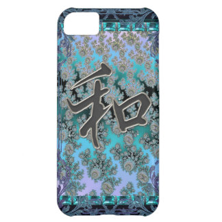 Elegant Fractal Chinese Peace Symbol iPhone Case