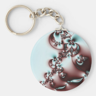 Elegant Fractal Flowers Key Chain