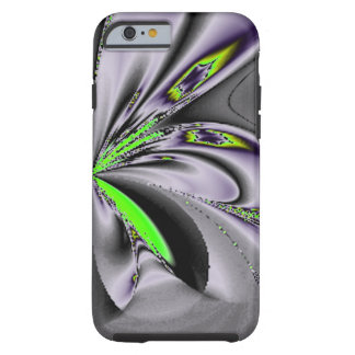 Elegant Fractal Touch of Green Tough iPhone 6 Case
