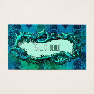 Design bedding business cards templates zazzle elegant frame damask business card reheart Gallery